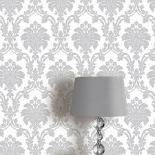 Damask Wall Decor Arthouse Romeo Damask Wallpaper Black Blush Grey Cream