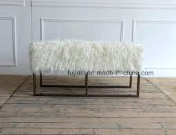 Fuzzy White Ottoman White Fur Ottoman Faux Fur Ottoman Regency White Fur Ottoman Faux