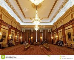 inside of parliament house in bucharest romania stock photo