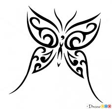 how to draw butterfly designs
