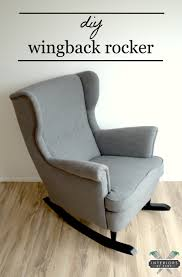 Ikea Rolling Chair by Ikea Hack Strandmon Rocker Diy Wingback Rocking Chair