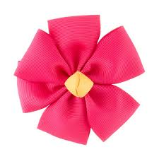 pink grosgrain flower bow the container store