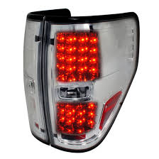 2012 f150 tail lights 09 12 ford f150 chrome housing clear lens led tail lights