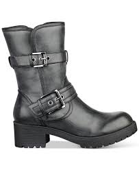 motorcycle booties lyst g by guess minion moto booties in black
