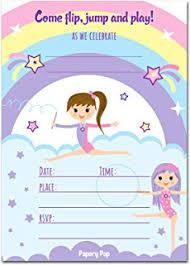 birthday invitations gymnastics birthday invitations with envelopes 15