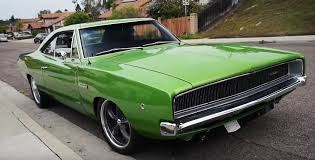 1968 dodge charger green 1968 dodge charger gets 10 cylinder from a viper