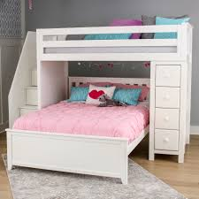 Bunk Bed With Storage Jackpot Staircase Loft Bed Storage White N Cribs