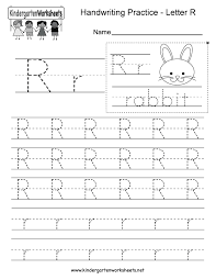 letter r writing worksheet for kindergarten kids this series of