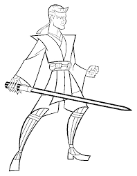 Coloriage Clone Wars  Anakin Skywalker 8