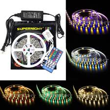 smd led strip light supernight 16 4ft 5m 5050 300leds rgb led strip lights