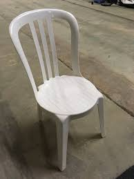 White Bistro Chair Secondhand Chairs And Tables Plastic Bistro Chairs