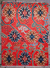 Tibetan Home Decor Elegant Antique Tibetan Lotus Flower Design Rug Lotus Flower Design