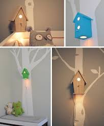 bird house lighting for kid bedroom