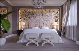 chambre avec papier peint papier peint chambre adulte tendance id e am nagement et d coration