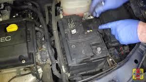 vauxhall zafira 2005 2009 1 9 cdti battery removal