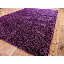 luxurious soft dense pile purple shaggy rug 5 sizes available
