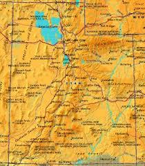 america map utah united states of america utah general data
