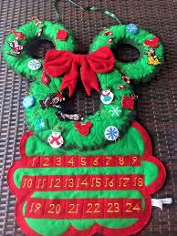 disney parks mickey mouse wreath advent calendar