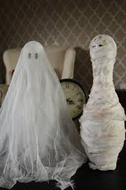 creative mommas halloween decorations ghost and mummy