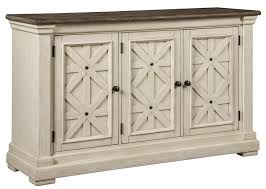 signature design by ashley bolanburg white gray dining room server