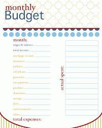 Complete Budget Worksheet Family Monthly Budget Template