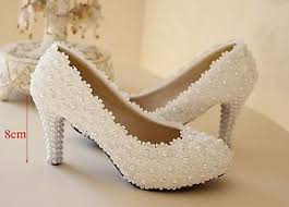 wedding shoes ivory white ivory lace flower bridal high heel wedding shoes low heel