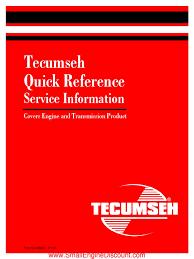 tecumseh quick refernce service info carburetor rectifier