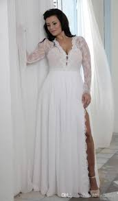 cheap plus size wedding dress cheap plus size wedding dresses with split sheath plunging v neck