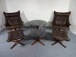 Chairs Ottomans Mid Century Falcon Chairs Ottomans Tables By Sigurd Ressell For