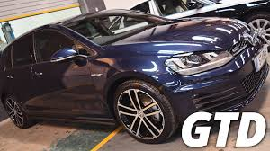 volkswagen gti night blue 2016 volkswagen golf gtd 2 0 tdi mk7 night blue walk around youtube