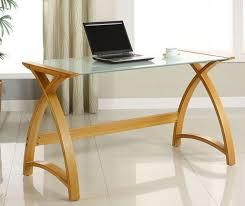 Laptop Desk Uk Jual Curve 1300mm Wood Glass Laptop Desk Home Office Desks