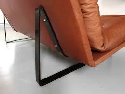Esszimmerst Le Leder Design Vintage Zweisitzer Sofa In Cognacfarbenen Leder Von Kho Liang Ie