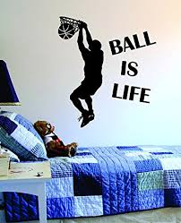 Basketball Room Decor Amazon Com Basketball Wall Decals Sports Boys Wall Decals For