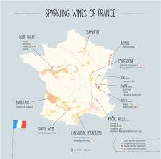 What Is A Bubble Map Beyond Champagne 23 Sparkling Wines Of France Map Wine Folly