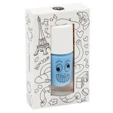 nailmatic kids wash off nail polish in gaston blue kid