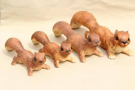 family of squirrels vintage made in japan ceramic animals