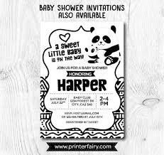 Panda Baby Shower Invitations - panda banner panda birthday party panda baby shower panda