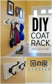 coat rack an easy wall mounted idea with hooks