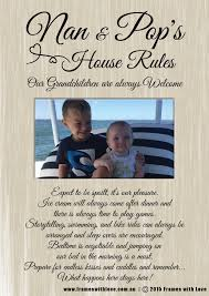 House Rules Design Com by Nan U0026 Pop U0027s House Rules Fibre Design With Photo 1170