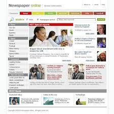 news portal website template 11002