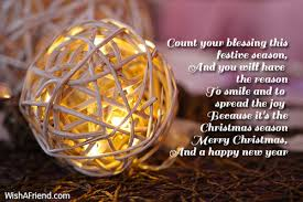 count blessing festive season merry christmas message