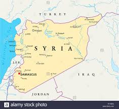 map of syria syria political map political map of syria with capital damascus