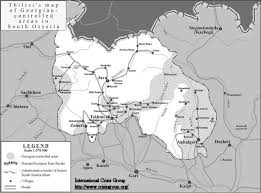 south ossetia map south ossetia map