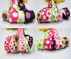 grosgrain ribbon bulk bulk colorful big party pop dot print grosgrain ribbon crafts 9mm