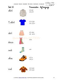 printable beginner esl pre junior vocabulary sheet 24 clothes