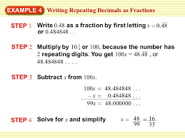 writing terminating decimals as fractions ppt video online download