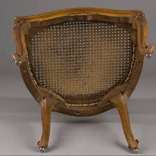 petit fauteuil de bureau petit fauteuil de bureau canné style louis xv 240909 expertissim