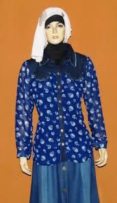 Baju Atasan Rok Levis atasan sifon motif tengkorak bk0329 grosir baju muslim murah tanah