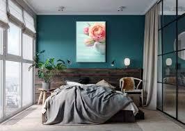 décoration murale bleu canard toile design et moderne d izoa