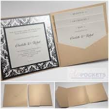 Wedding Invitation Pocket Envelopes Champagne Gold Square Wedding Invitation Envelopes Diy Pocket Fold